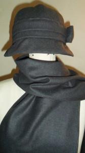 retro klobouk + šála